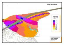 SoundPLAN Road Model - 3D View Oakland Bridge